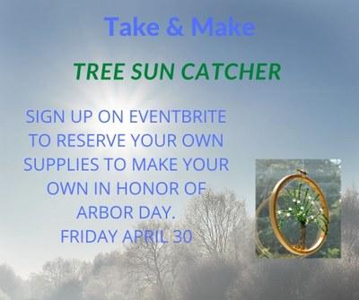 DIY Tree Sun Catcher