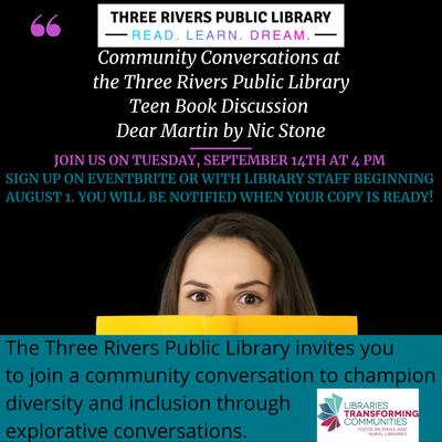 Community Conversations: Book Talk Dear Martin