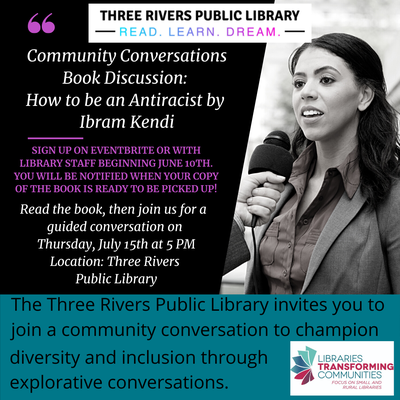 Community Conversations Book Talk: How to be and Antiracist by Ibram Kendi