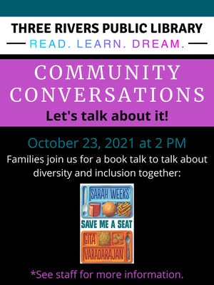 """Community Conversations: Family Book Discussion - """"Save Me a Seat"""""""