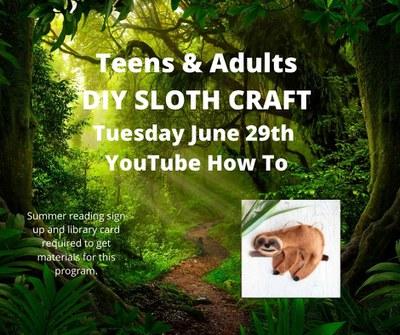 DIY Felt Sloth Craft