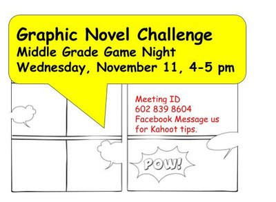 Middle Grade Game Night: Graphic Novel Challenge