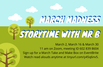 """Story Time with Mr. B: """"March Madness...with Crayons"""""""