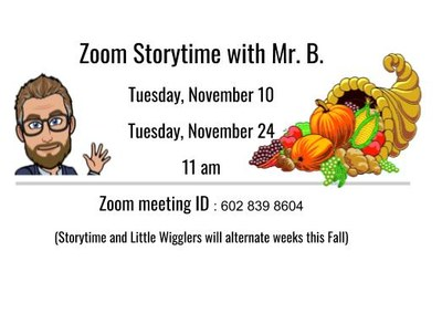 Story Time with Mr. B.