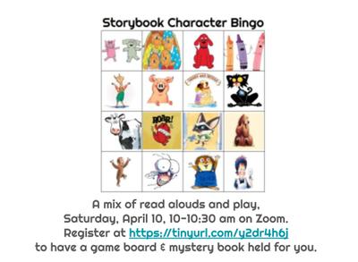 Storybook Character Bingo