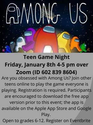 Teen Game Night: Among Us