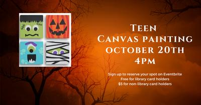 Teen Halloween Canvas Painting